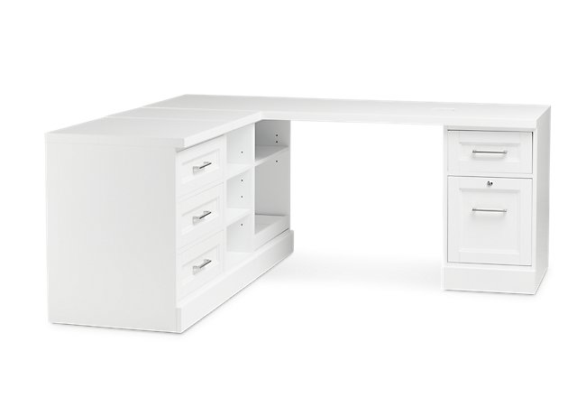 Newport White L Desk
