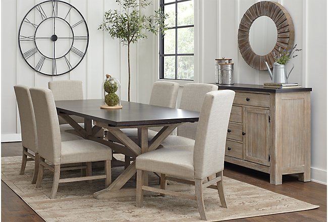 Lexington Two-Tone RECT Table, 4 Chairs & Bench | Dining ...