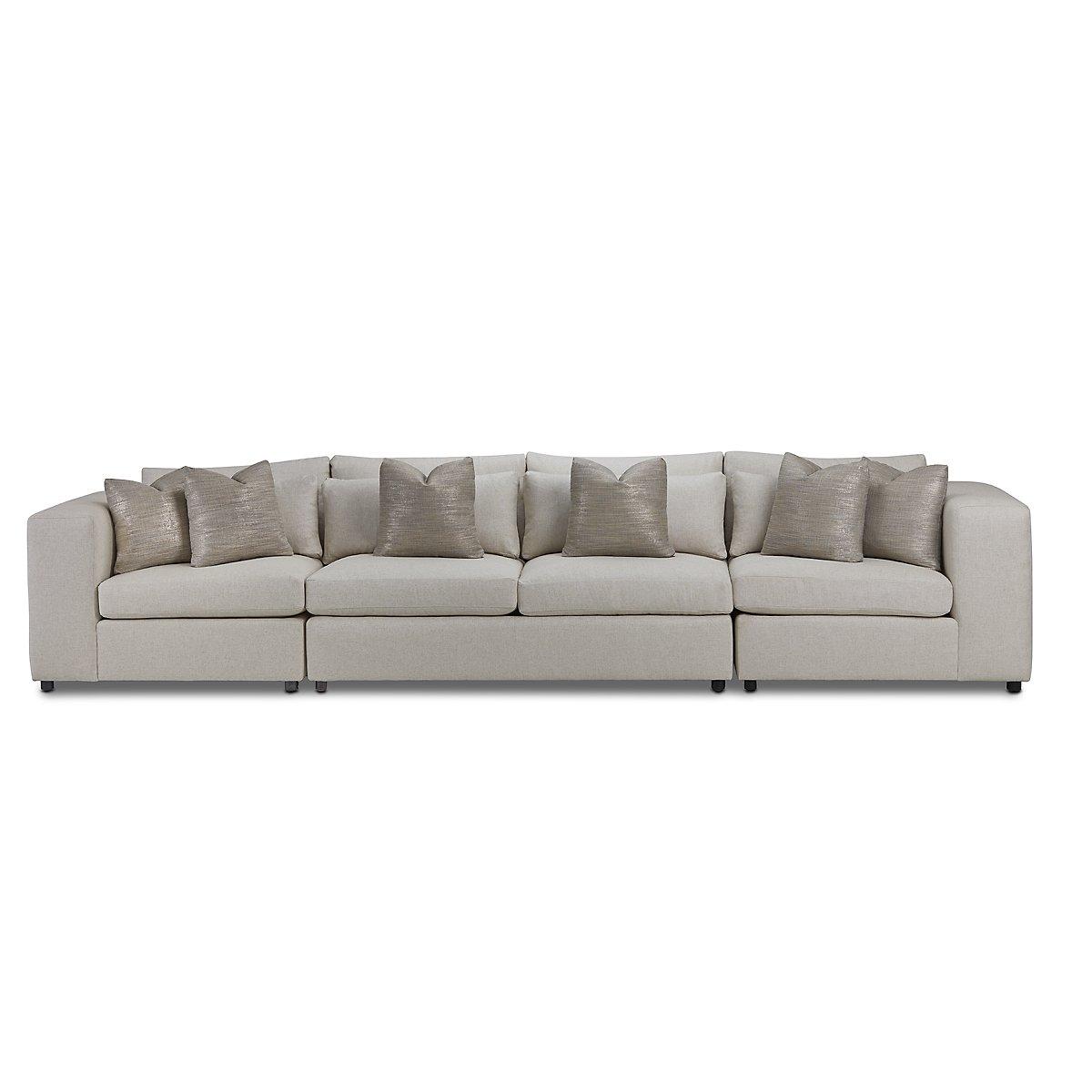 Como Light Beige Fabric Large Sofa | Living Room - Sofas | City ...