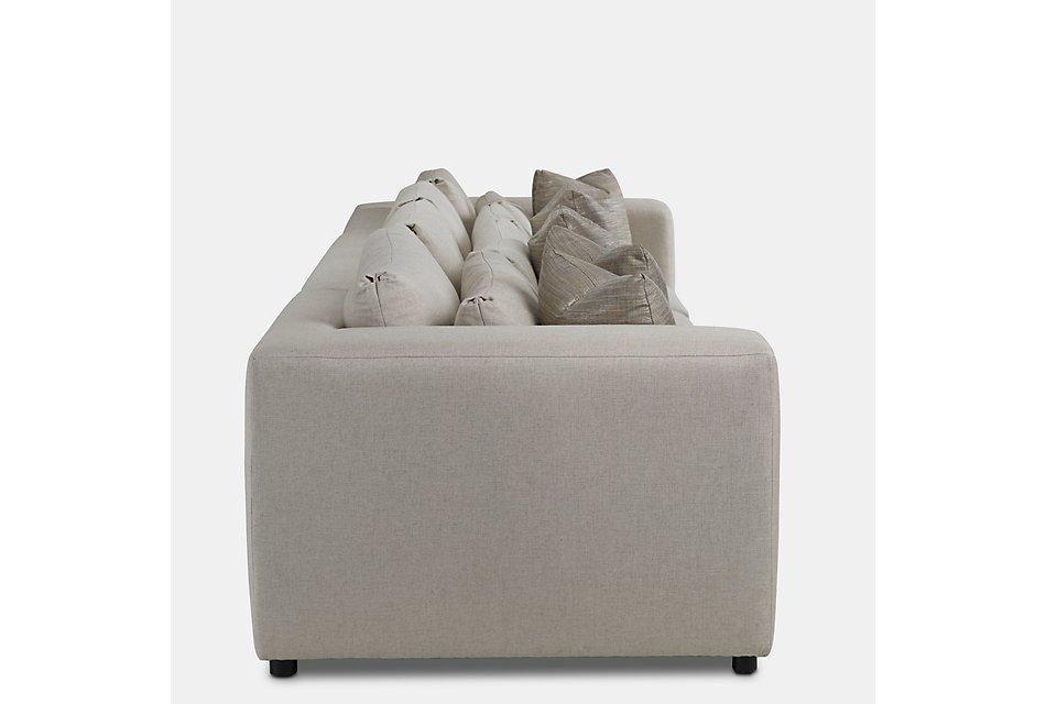 Como Light Beige Fabric Large Sofa | Living Room - Sofas ...