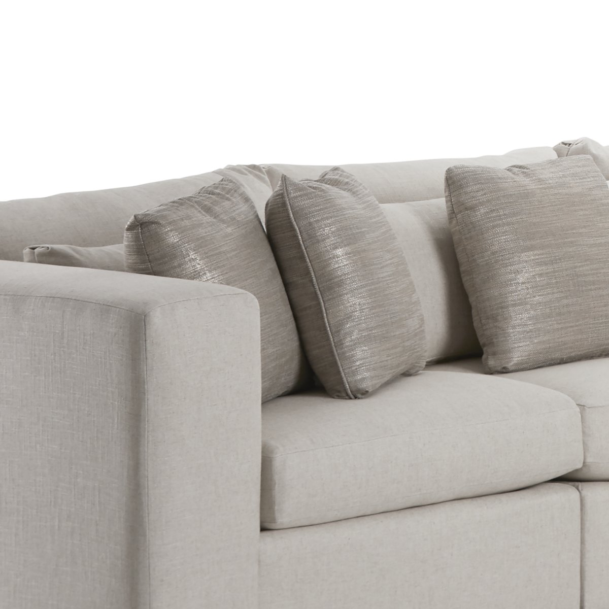 Como Light Beige Fabric Large Two-Arm Sectional
