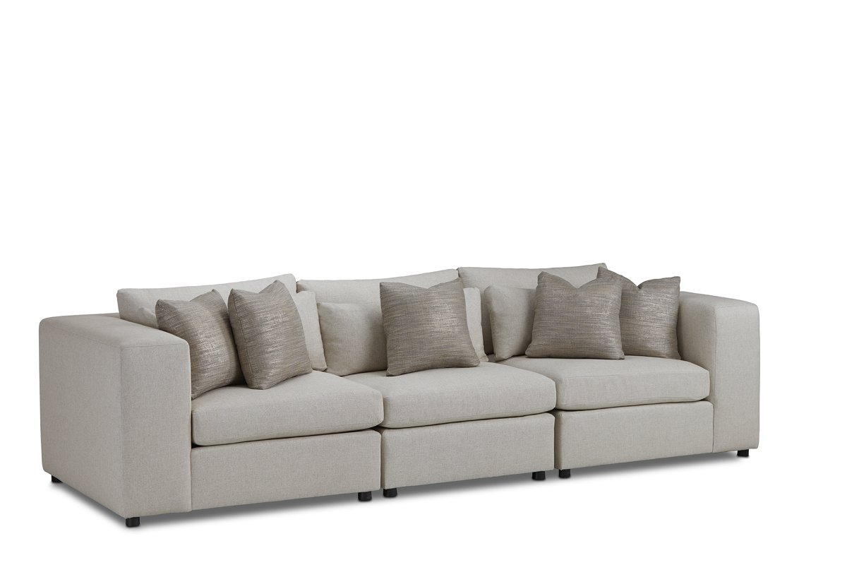 Como Light Beige Fabric Small Sofa