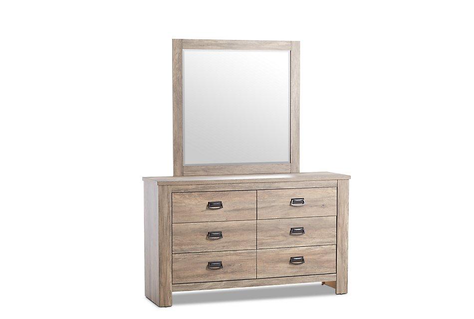 Shelton Light Tone  Dresser & Mirror