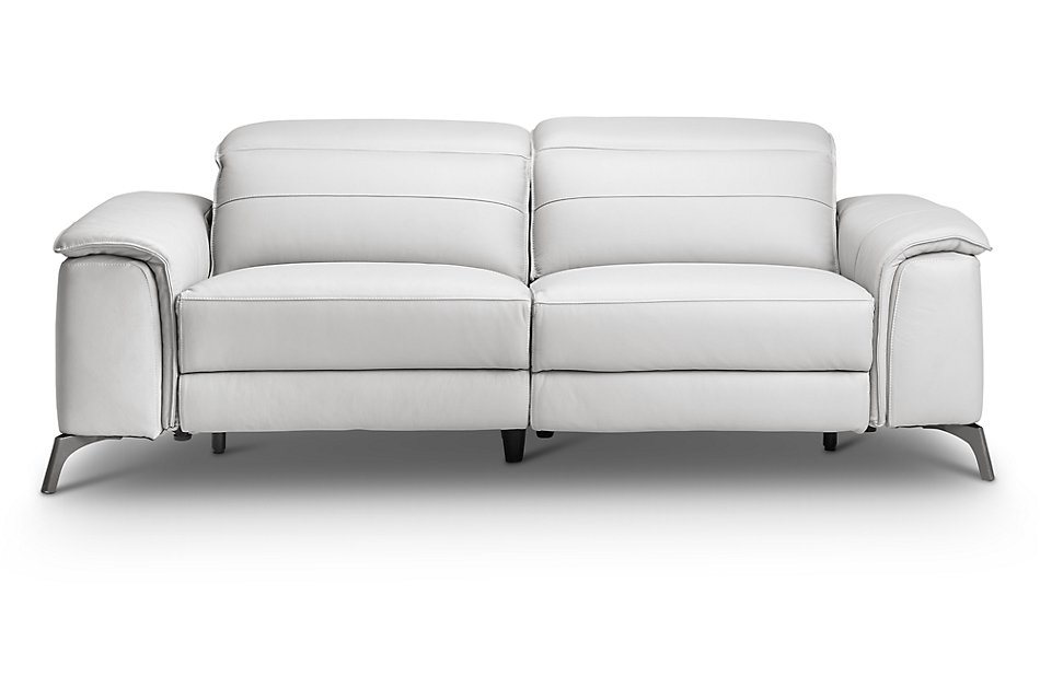 Fantastic Pearson White Leather Power Reclining Sofa Living Room Pdpeps Interior Chair Design Pdpepsorg