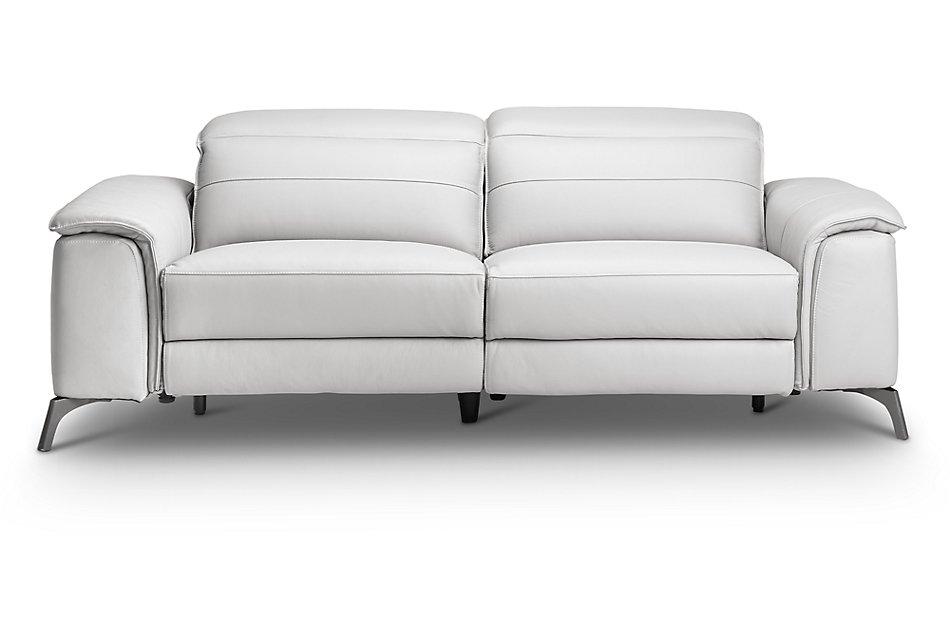 Fine Pearson White Leather Power Reclining Sofa Living Room Inzonedesignstudio Interior Chair Design Inzonedesignstudiocom