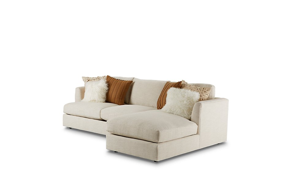 Sydney Light Beige  FABRIC Right Chaise Sectional