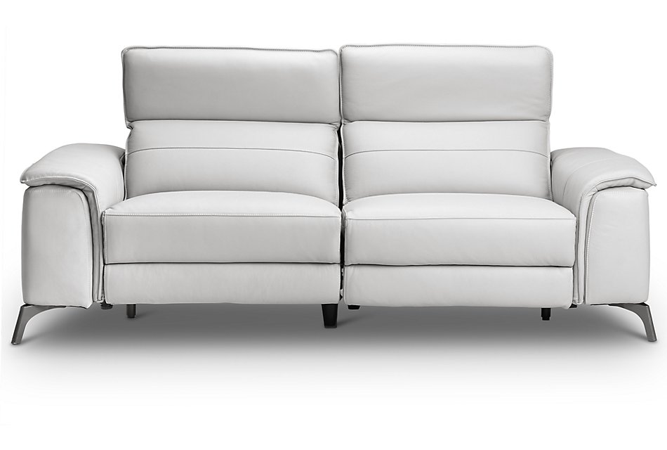 Pearson White Leather Sofa Living Room Sofas City
