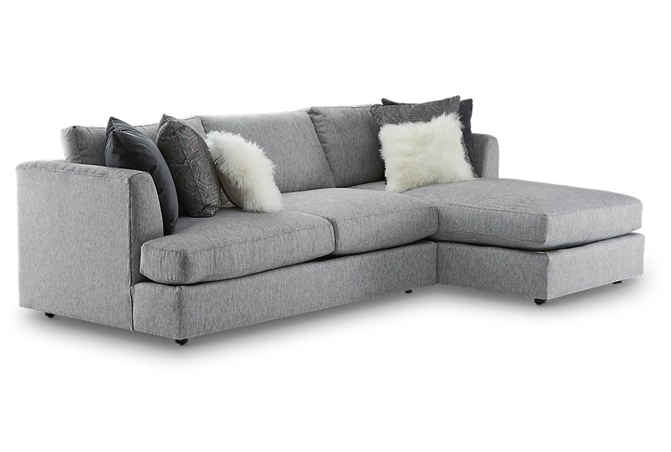 Superb Sydney Gray Fabric Right Chaise Sectional Sale Living Machost Co Dining Chair Design Ideas Machostcouk