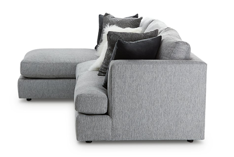 Sydney GRAY FABRIC Left Chaise Sectional