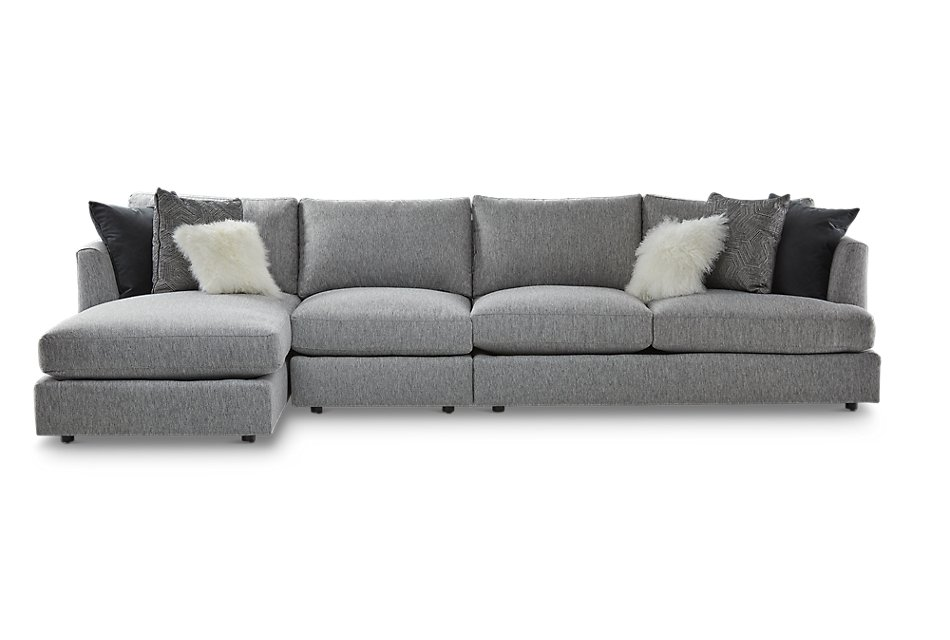 Sydney GRAY FABRIC Small Left Chaise Sectional