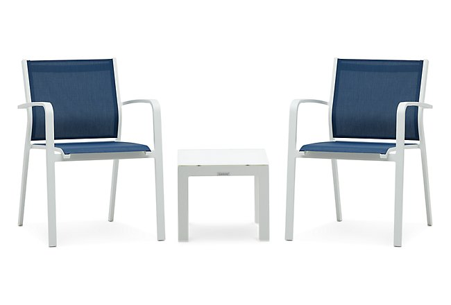 Lisbon Navy Small Outdoor Chat Set