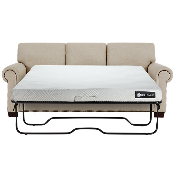 Foster Khaki Fabric Memory Foam Sleeper