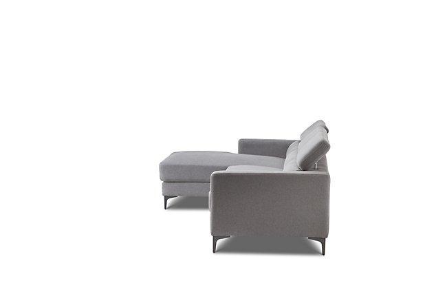 Trenton Dark Gray Fabric Left Chaise Sectional