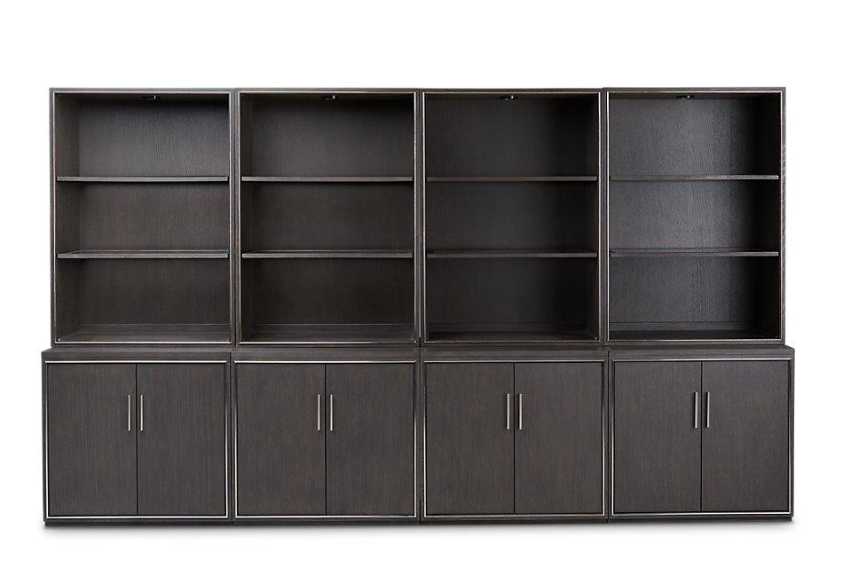 Highline Dark Tone  Door Bookcase Wall