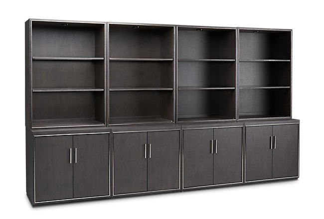 Highline Dark Tone Door Bookcase Wall