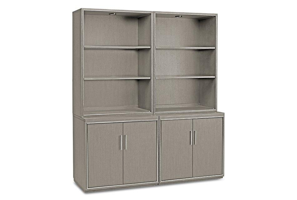 Highline Gray  Door Bookcase