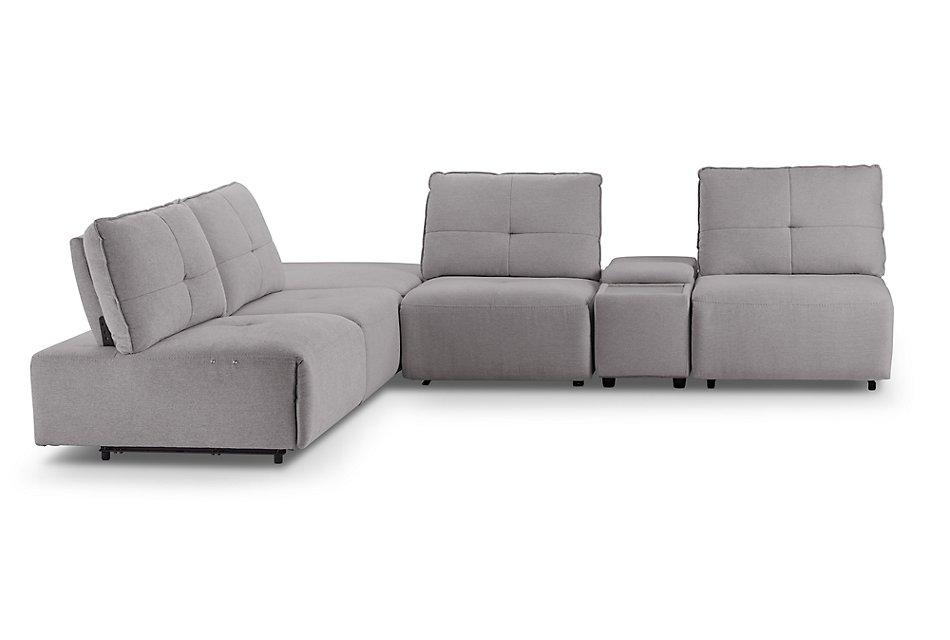 Strange Trice Light Gray Fabric Medium Ottoman Sectional Living Inzonedesignstudio Interior Chair Design Inzonedesignstudiocom