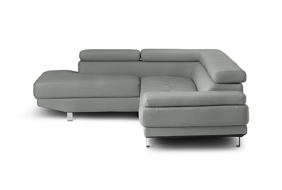 Peachy Zane Dark Gray Micro Left Chaise Sectional Living Room Gmtry Best Dining Table And Chair Ideas Images Gmtryco