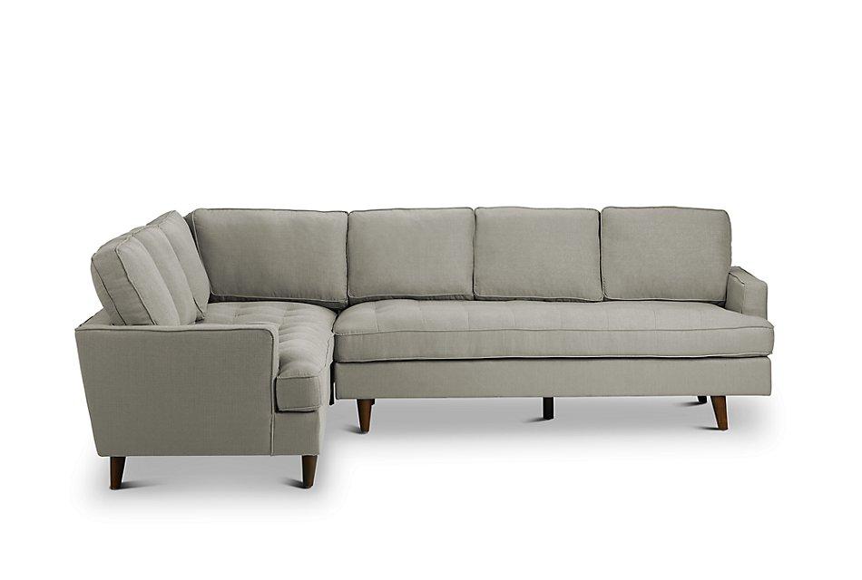 Remarkable Mid Century Modern Light Gray Fabric Medium 2 Arm Right Short Links Chair Design For Home Short Linksinfo
