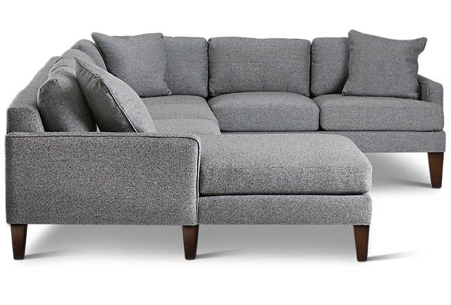 Brilliant Estelle Dark Gray Fabric Left Chaise Sectional Living Room Frankydiablos Diy Chair Ideas Frankydiabloscom