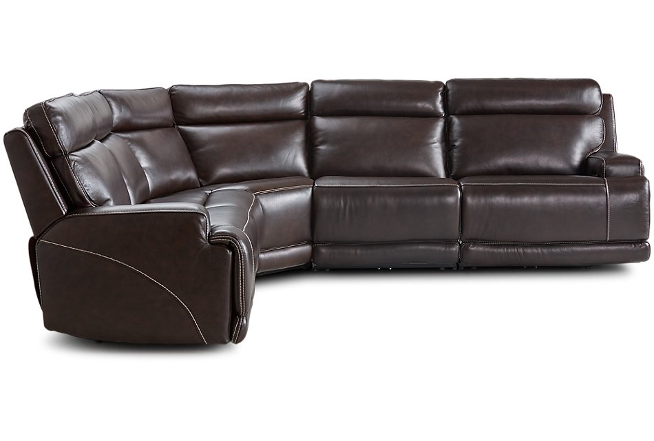Cool Valor Dark Brown Leather Small Two Arm Power Reclining Short Links Chair Design For Home Short Linksinfo