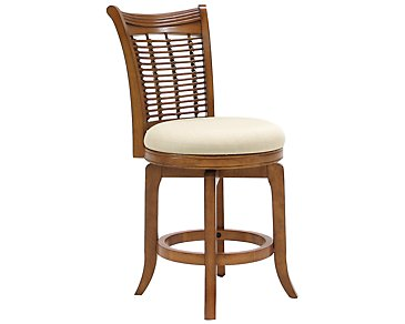 "Bayberry Mid Tone 24"" Swivel Barstool"