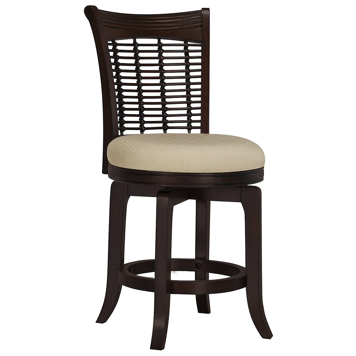 "Bayberry Dark Tone 24"" Swivel Barstool"
