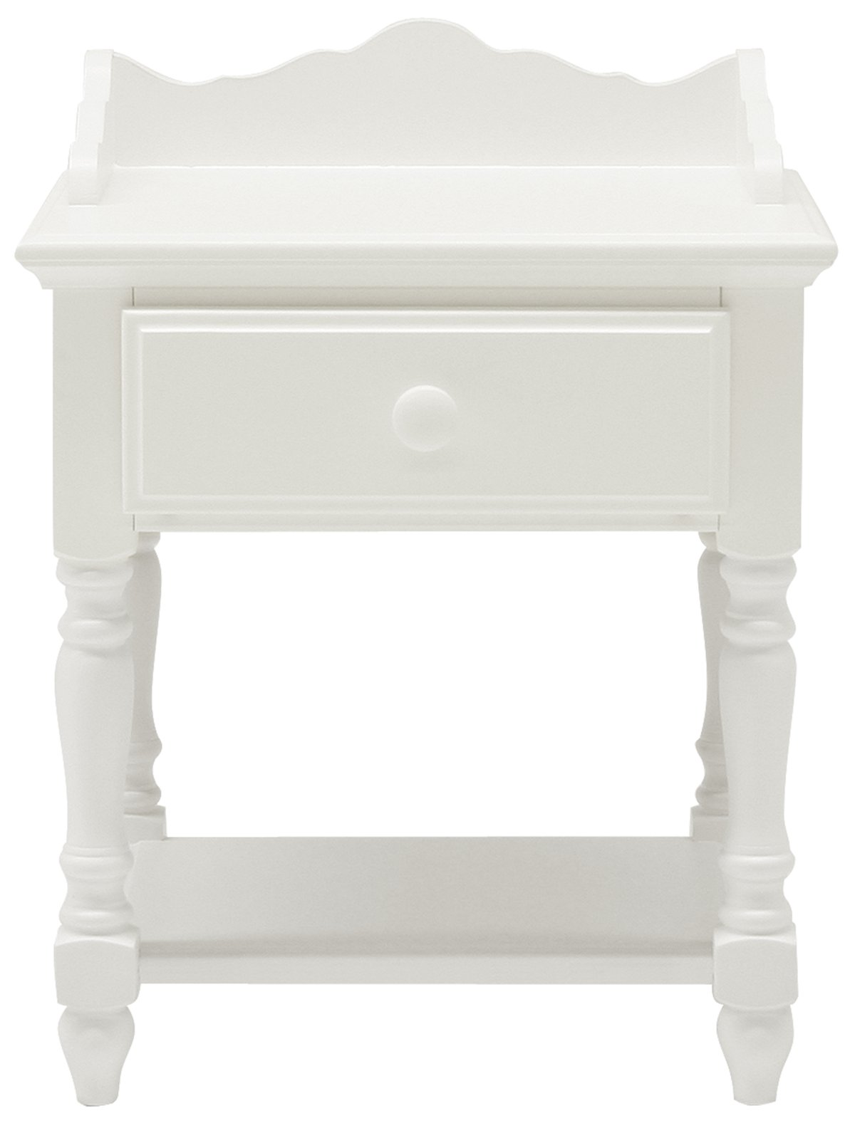 Lauren White Wood Nightstand