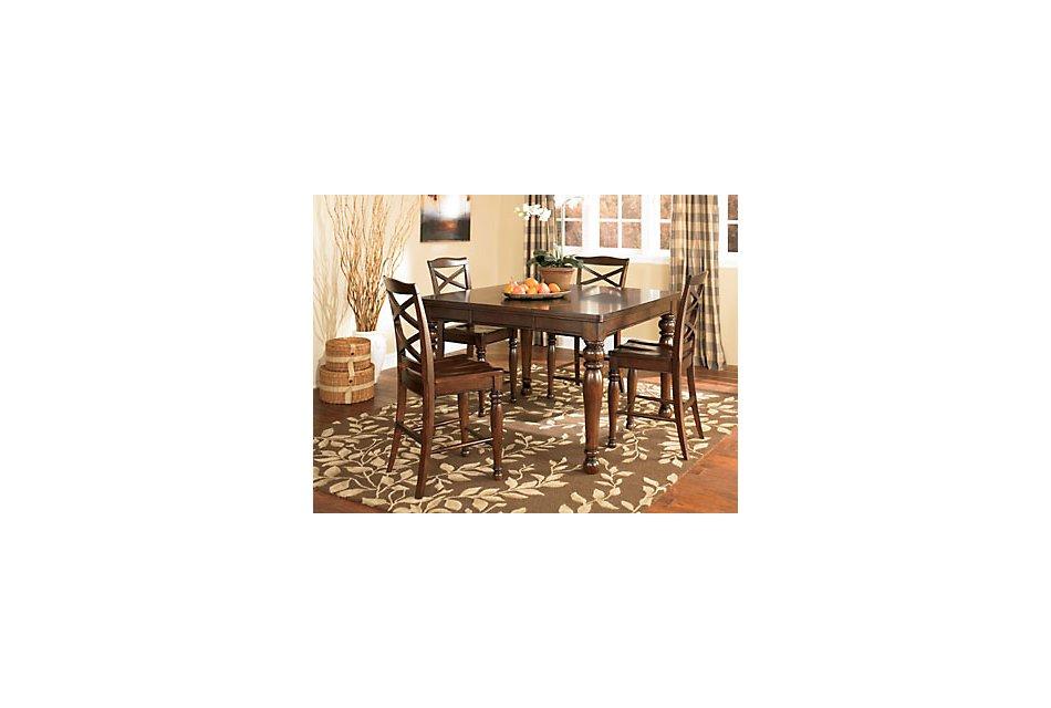 Porter Dark Tone High Dining Table