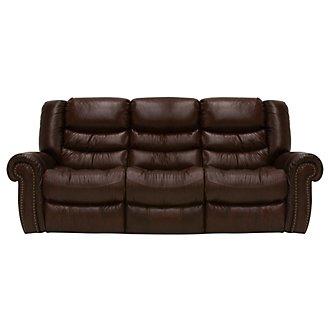 Peyton2 Dark Brown Leather & Vinyl Power Reclining Sofa