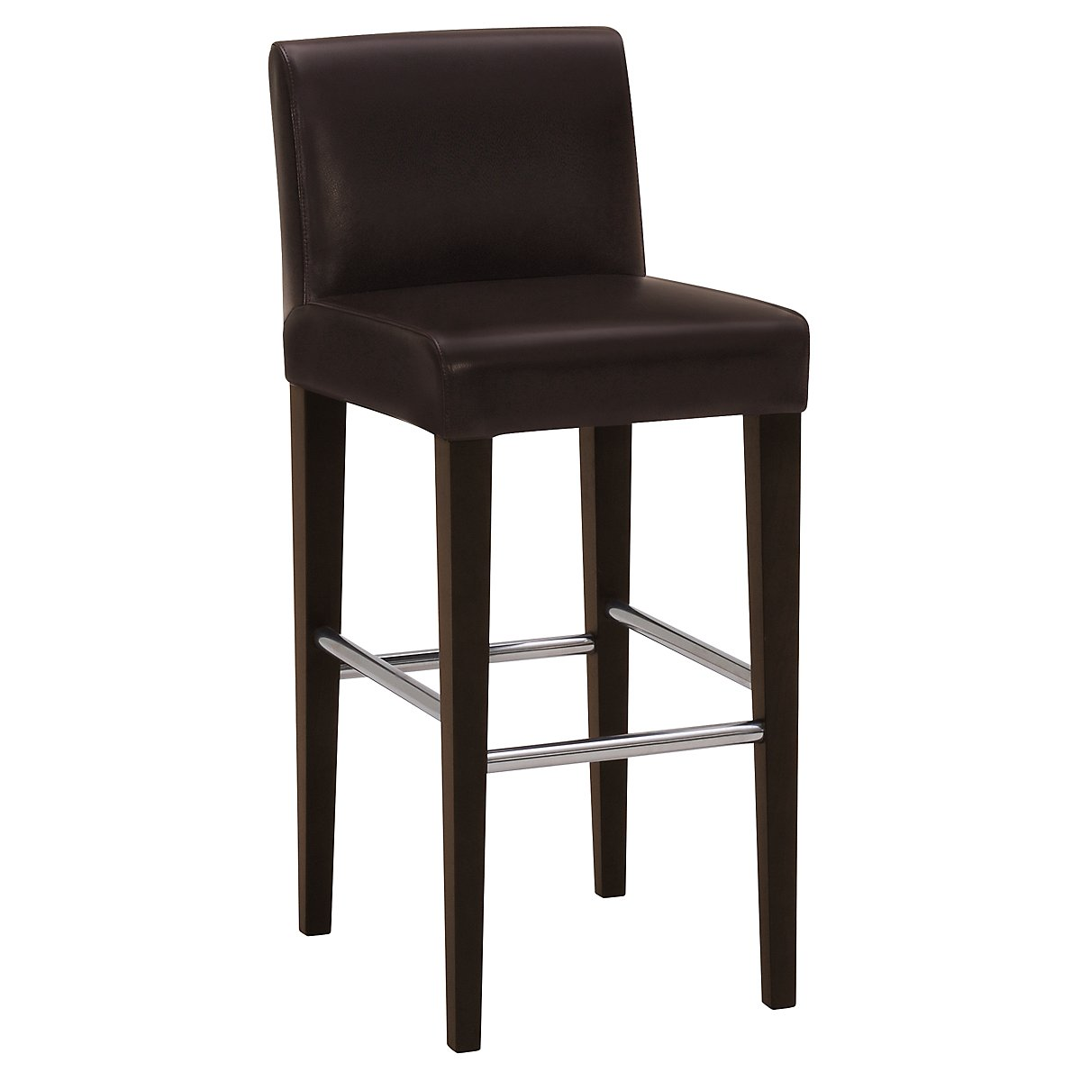 "Kyle Dark Brown Bonded Leather 30"" Upholstered Barstool"