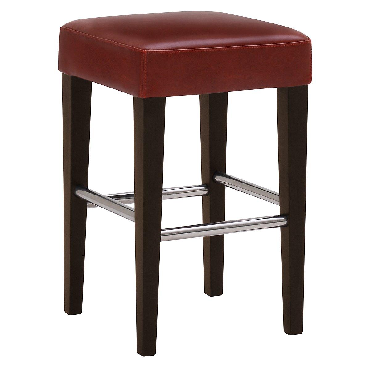 "Kayla Red 24"" Bonded Leather Barstool"