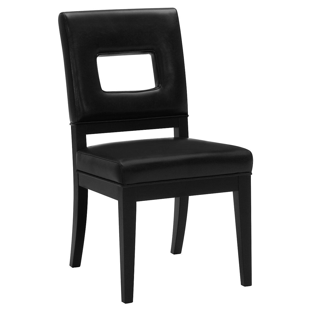 Aspen Black Bonded Leather Side Chair