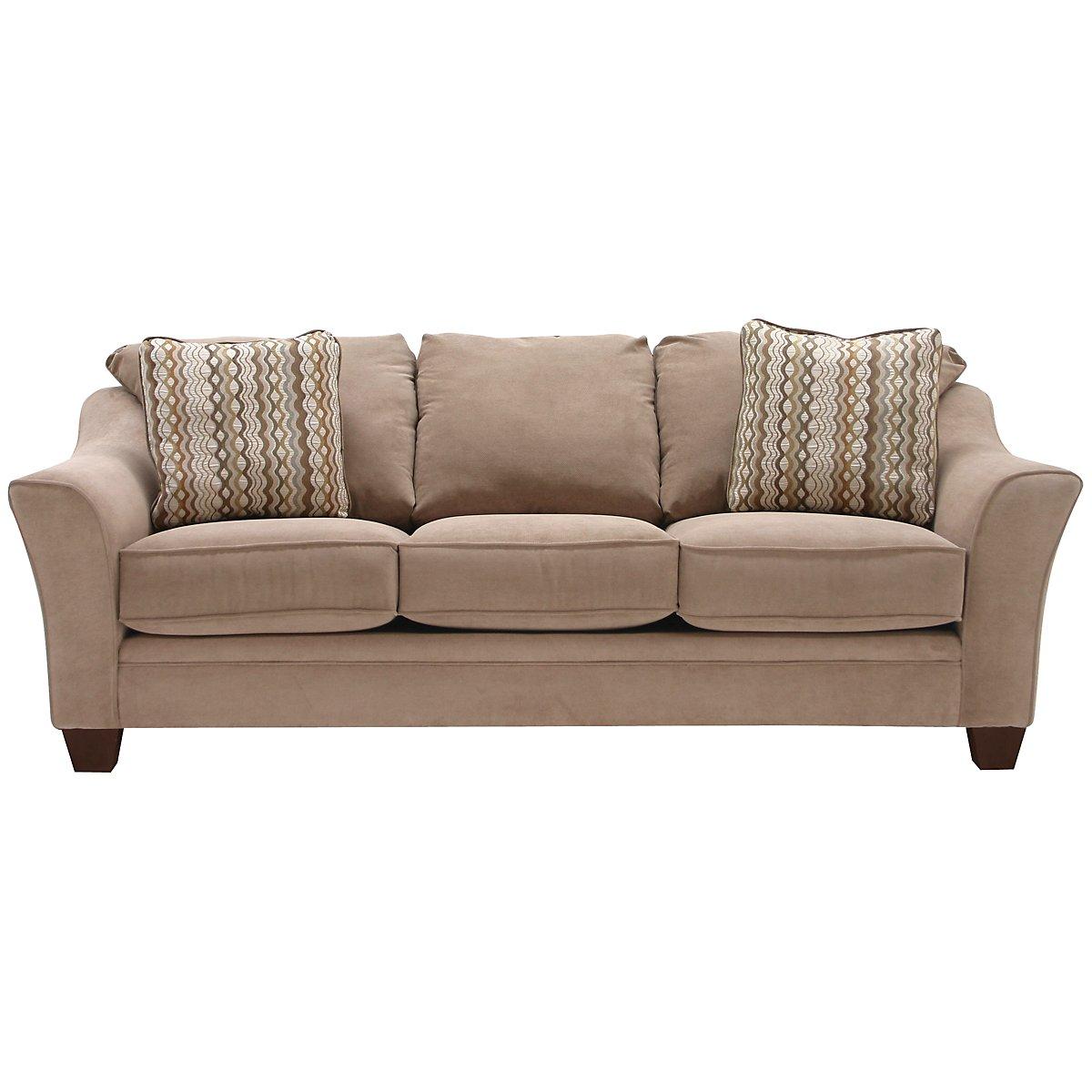 Grant2 Light Brown Microfiber Sofa