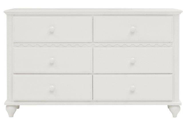 Lauren White Wood Dresser