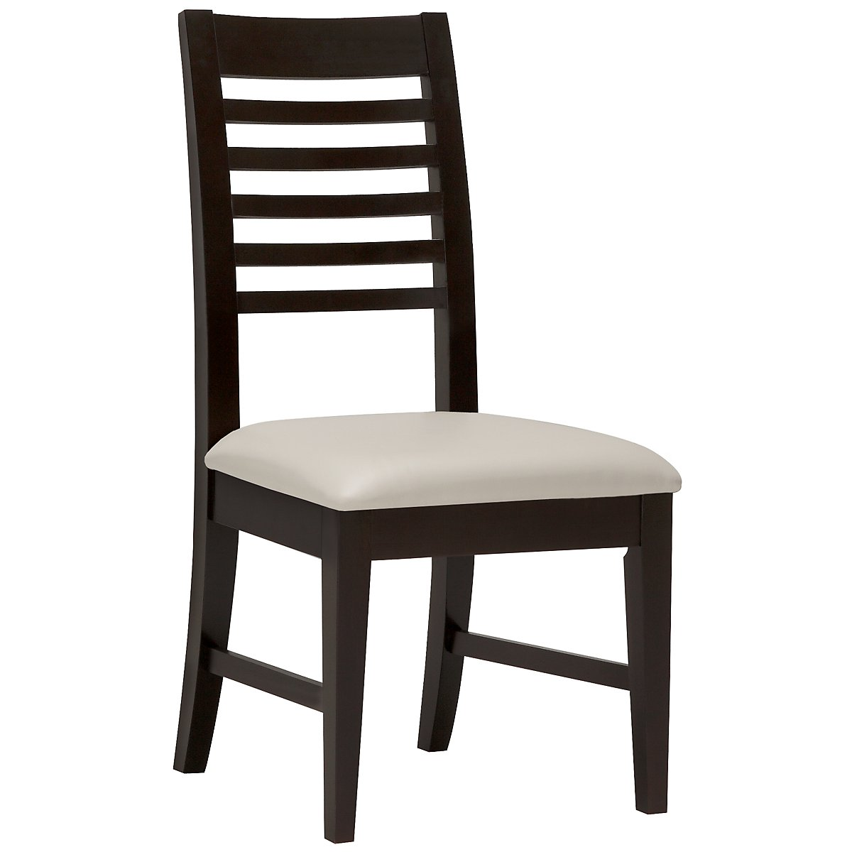 Encore2 Dark Tone Bonded Leather Slat Side Chair