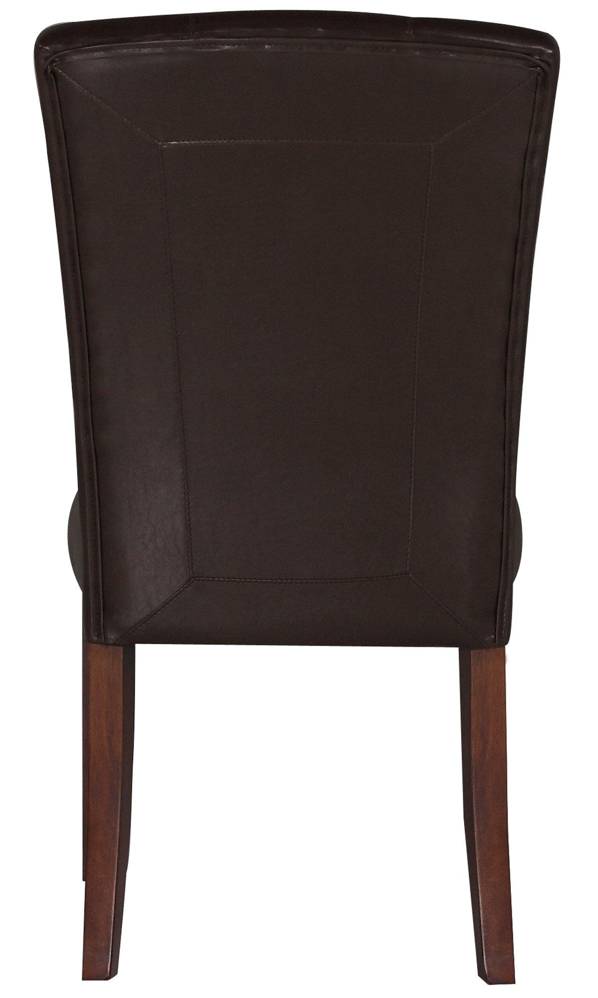 City Lights Dark Brown Upholstered Side Chair