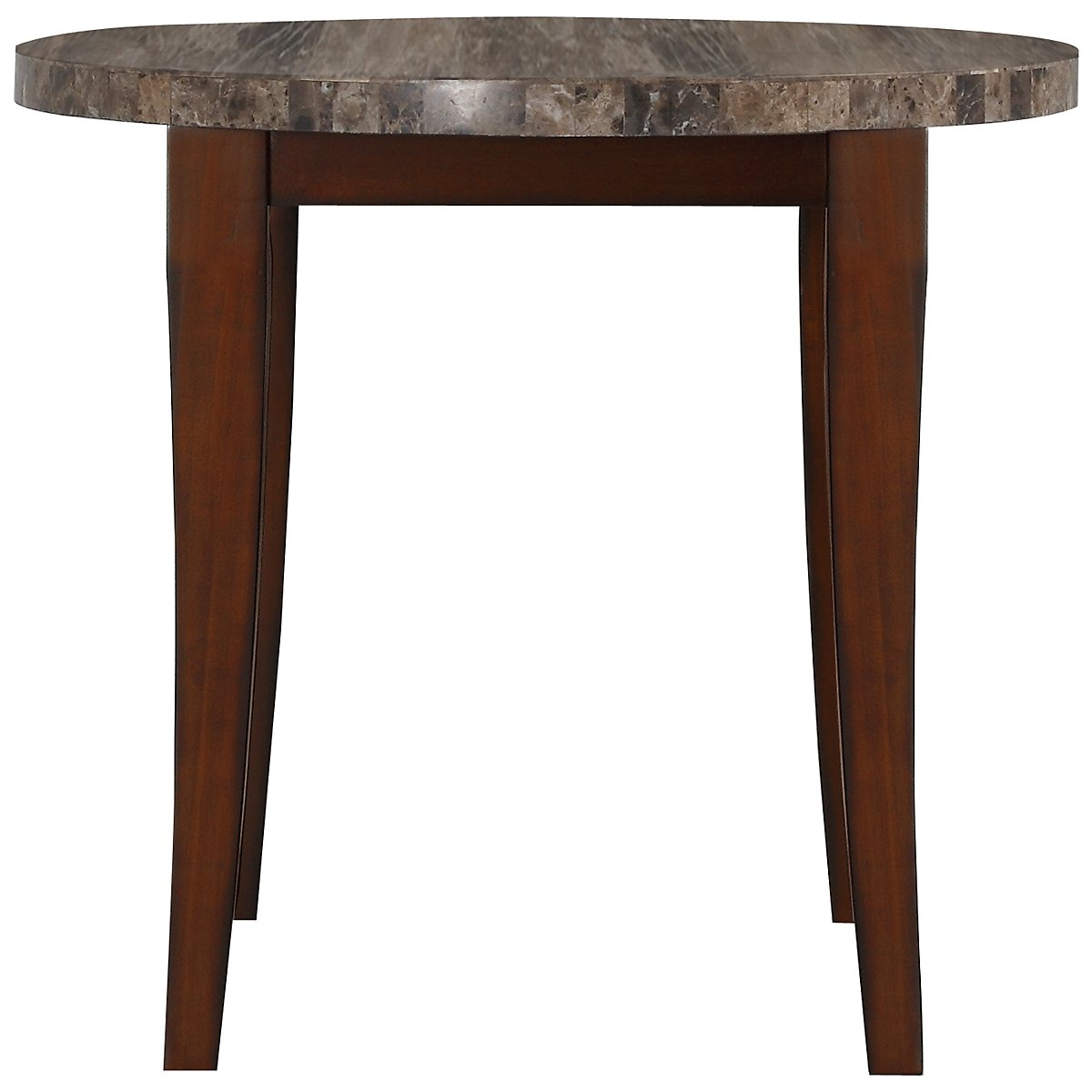 City lghts round marble high dining table for Marble dining room table