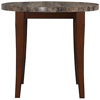 City Lights Marble Round High Dining Table