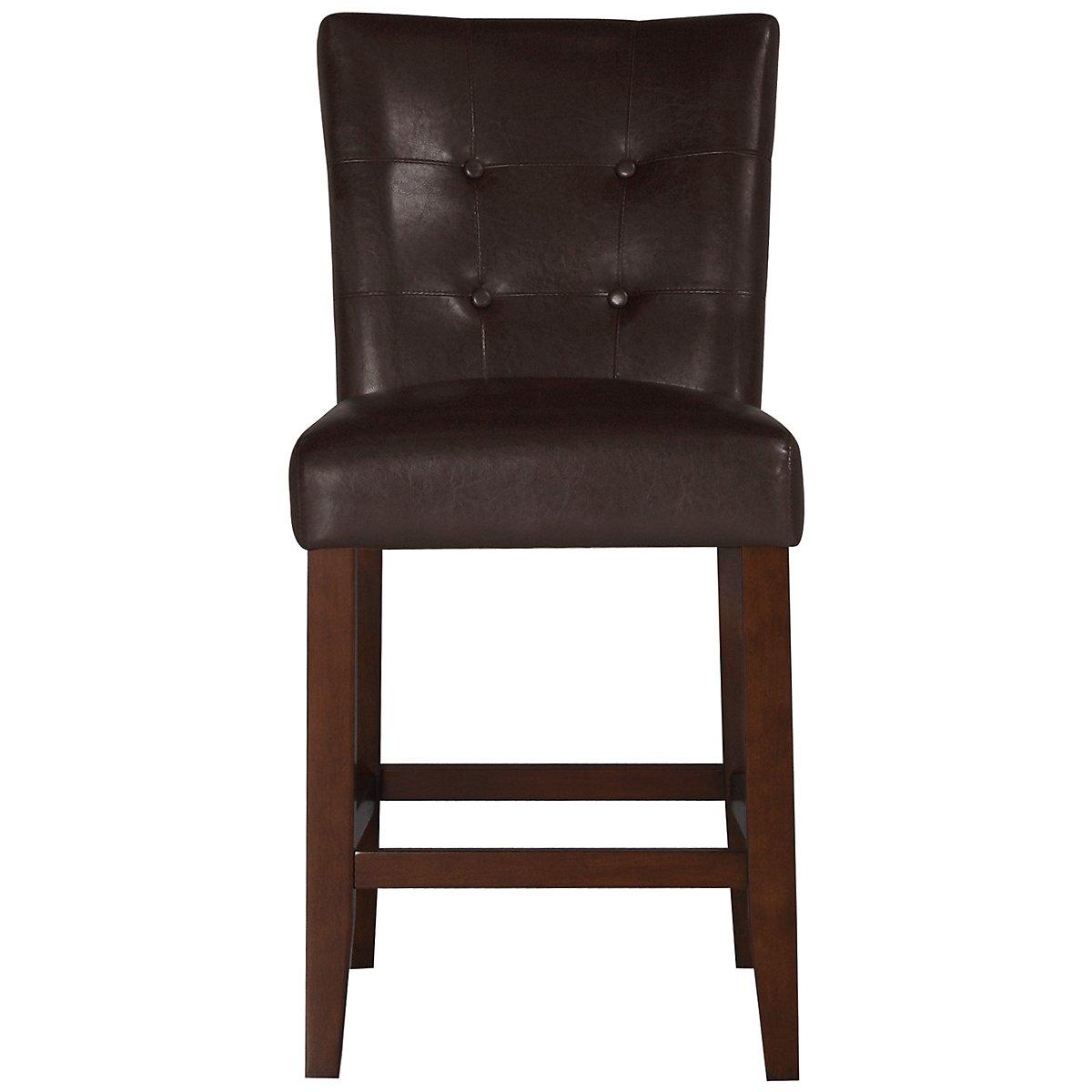 city lights dark brown 24 upholstered barstool dining chair
