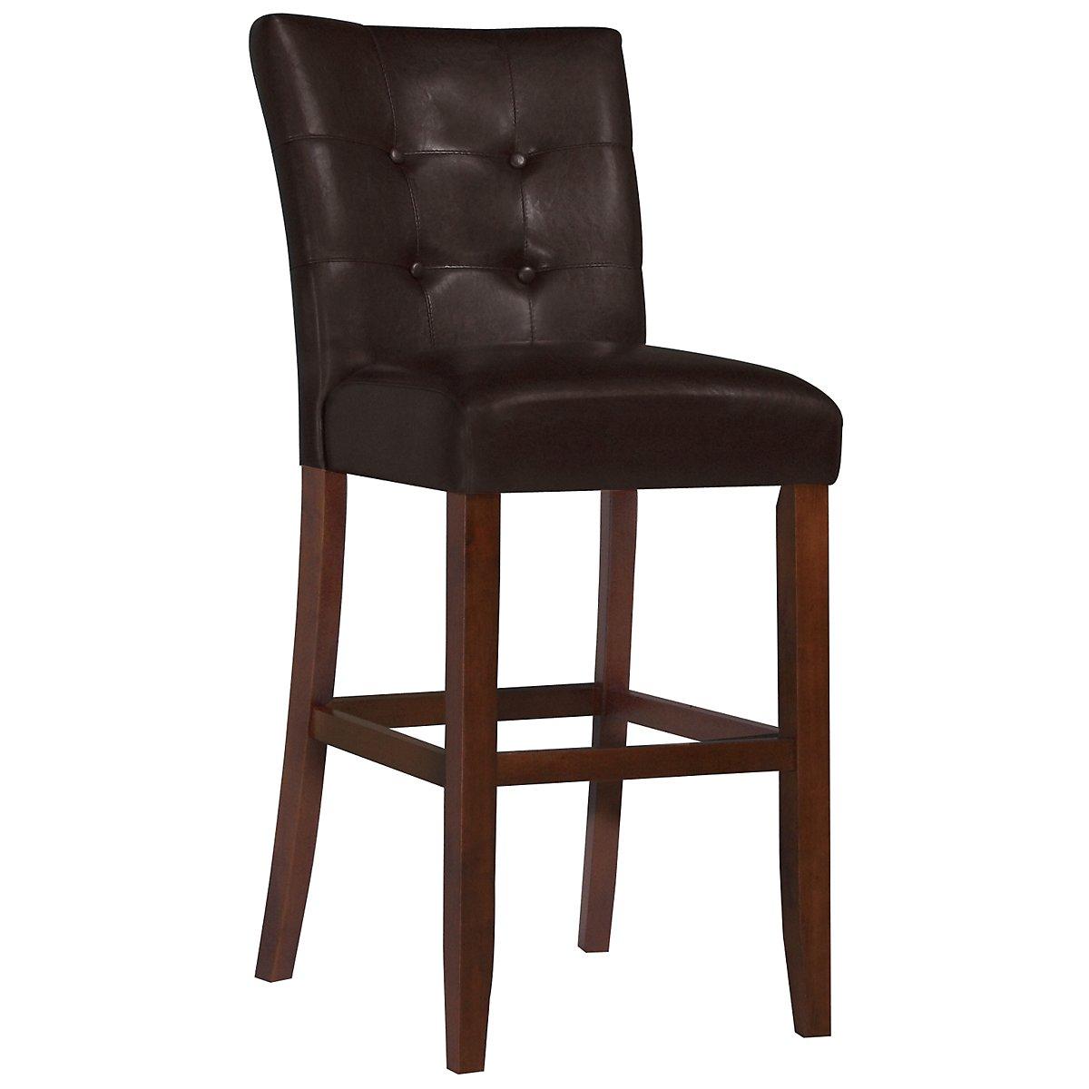 """City Lights Dark Brown 30"""" Upholstered Barstool"""