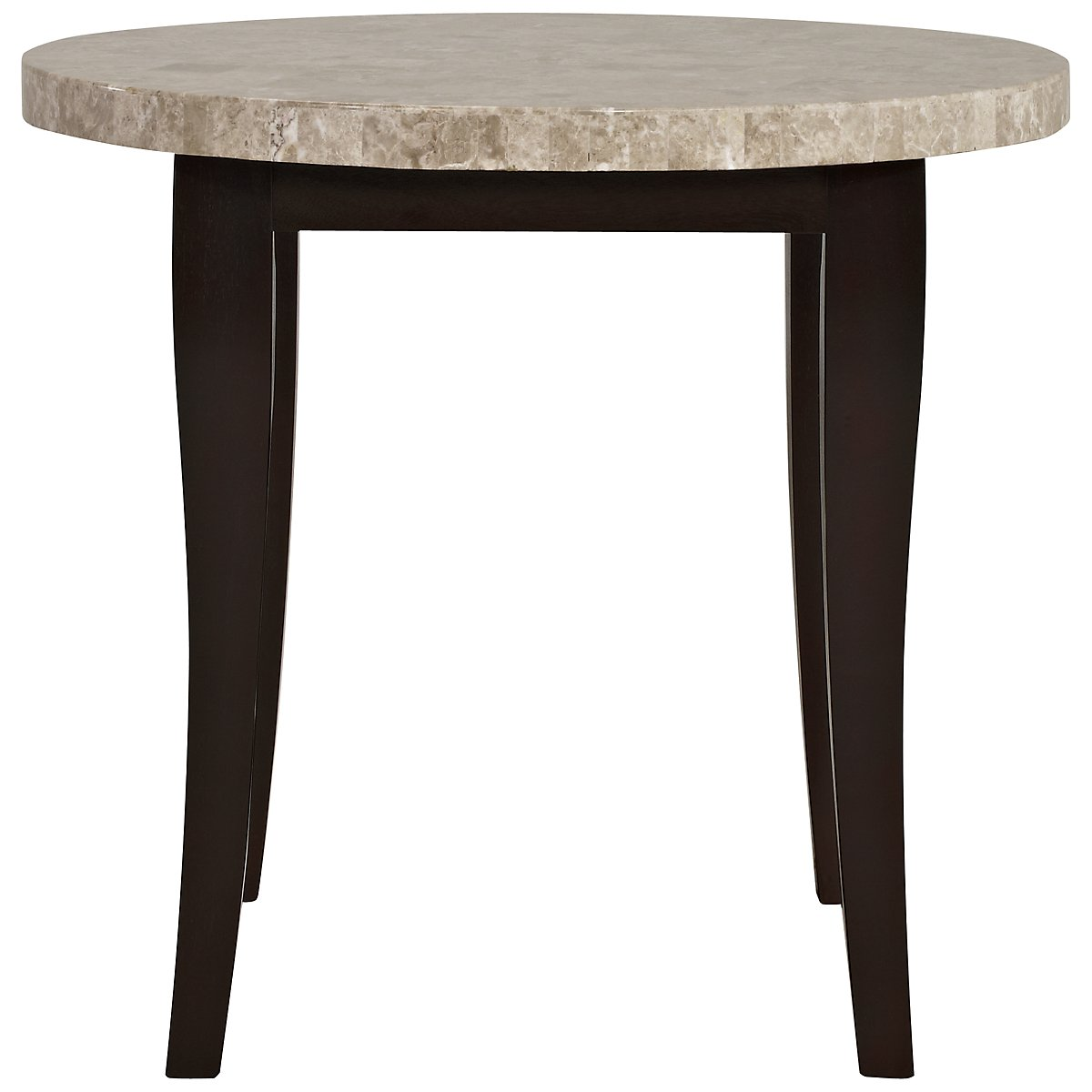 Monark Marble Marble Round High Dining Table