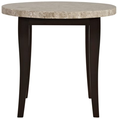Monark Marble Round High Dining Table