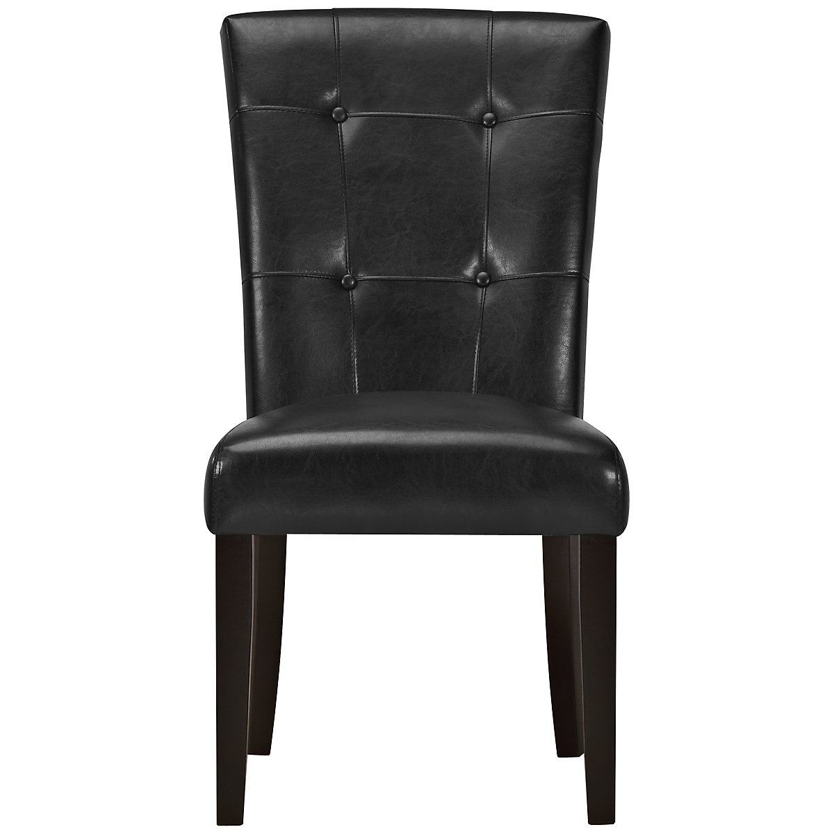 monark black upholstered side chair. Black Bedroom Furniture Sets. Home Design Ideas