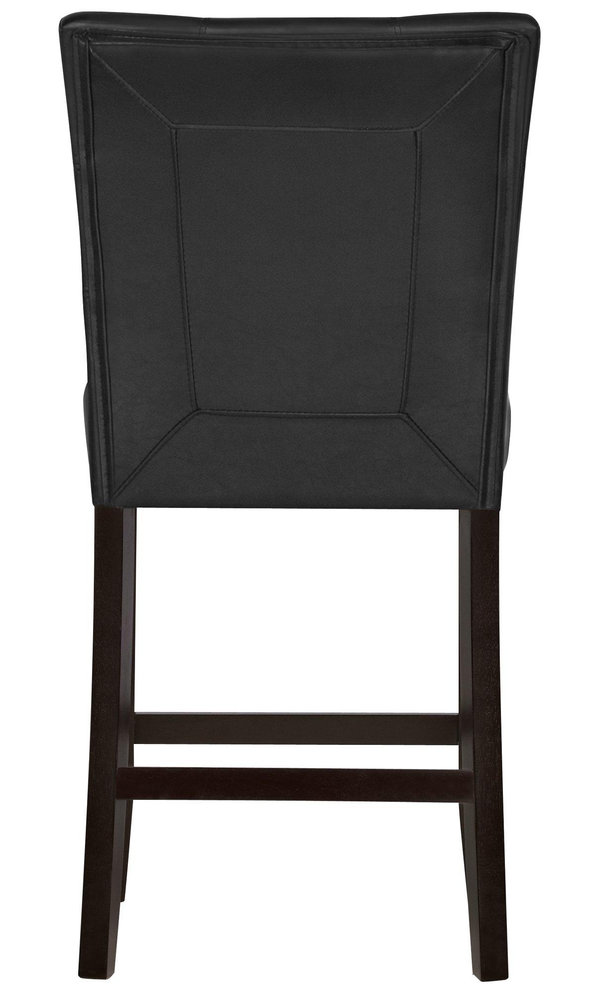 """Monark Black 24"""" Upholstered Barstool"""