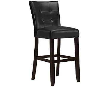 """Monark Black 30"""" Upholstered Barstool"""