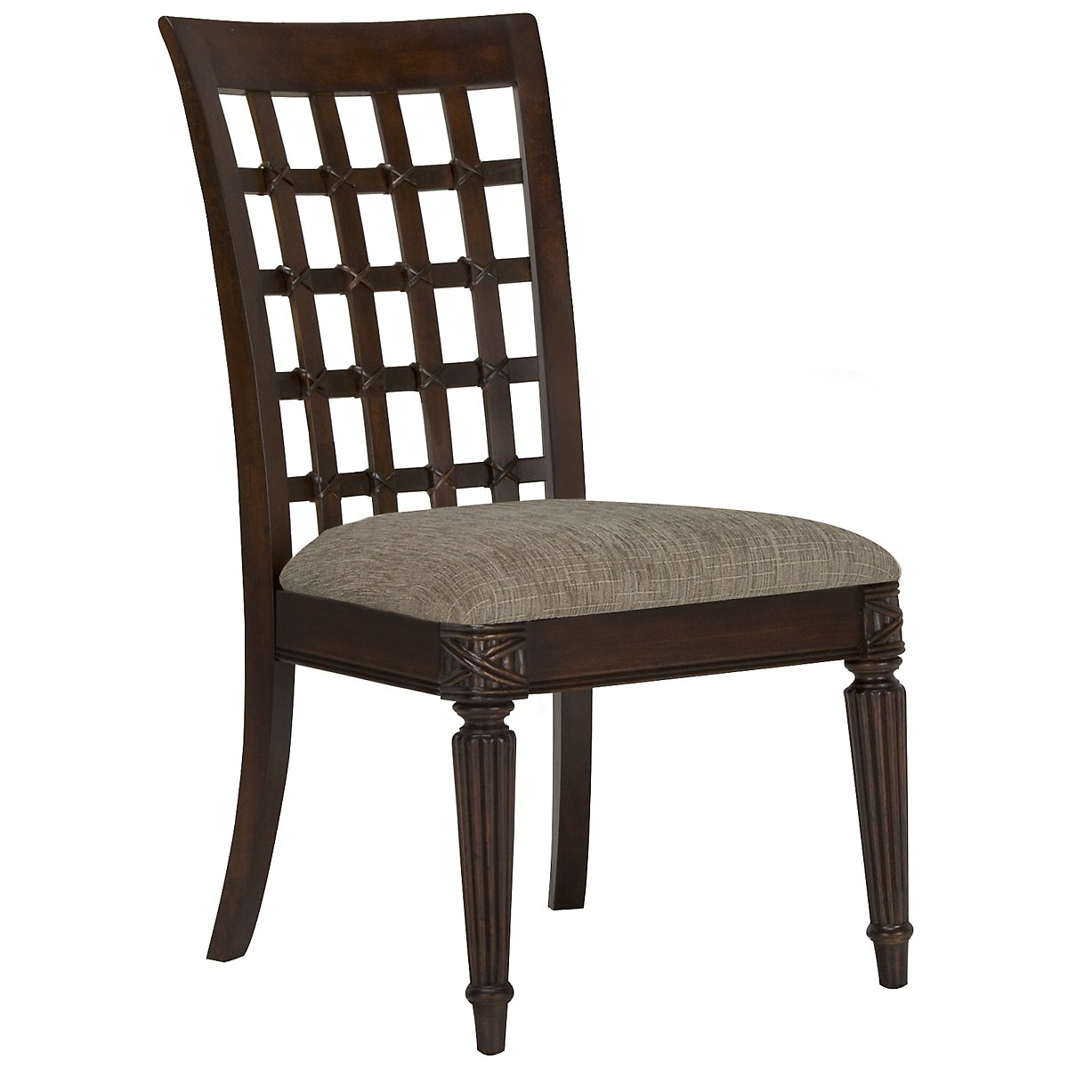 Palm Dark Tone Wood Side Chair
