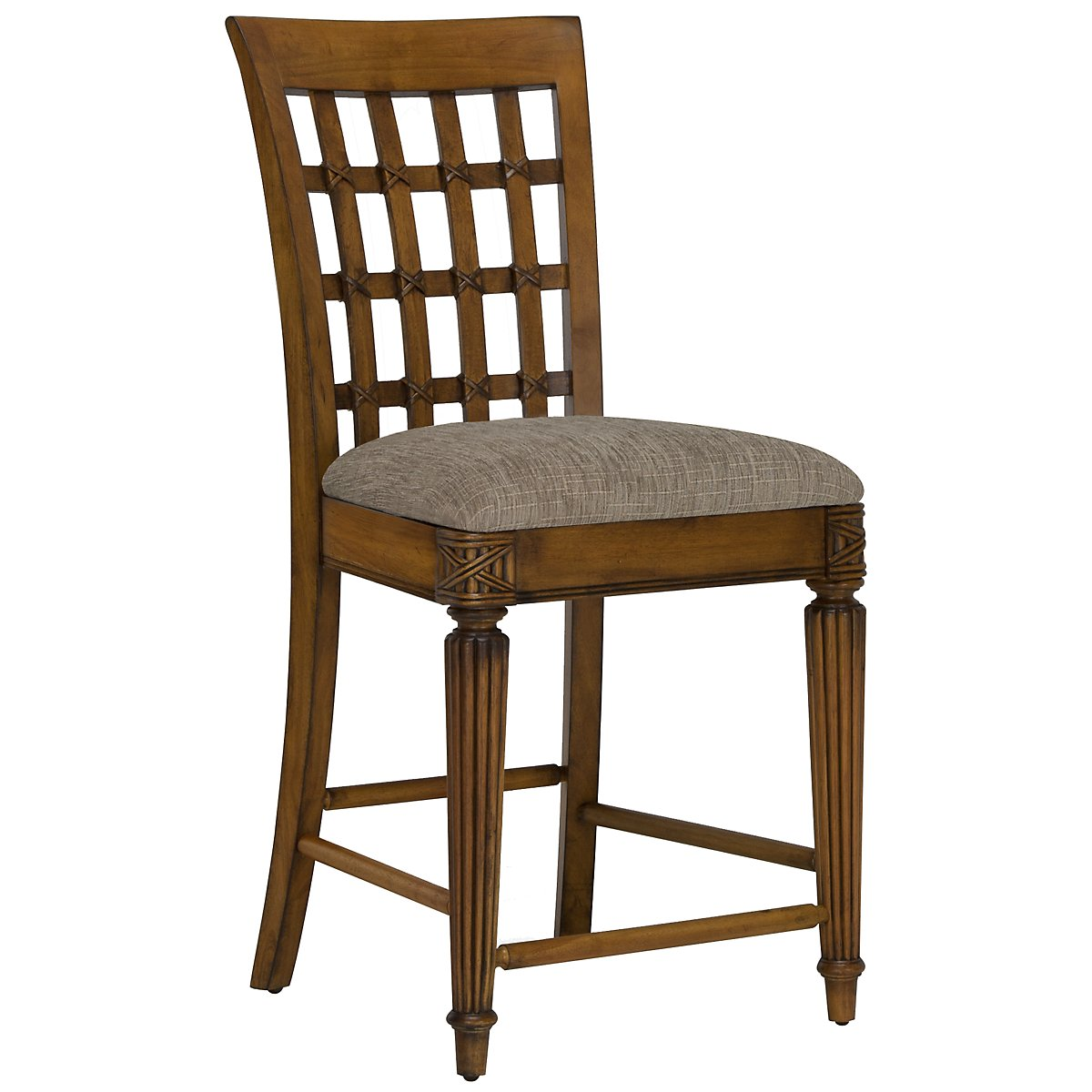 "Palm Mid Tone 24"" Wood Barstool"