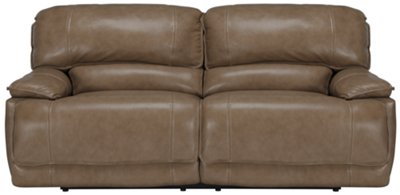 Benson Dark Taupe Leather U0026 Vinyl Reclining Sofa