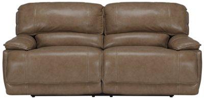 Benson Dark Taupe Leather u0026 Vinyl Power Reclining Sofa  sc 1 st  City Furniture & benson dk brown lthr/vinyl power reclining sofa islam-shia.org